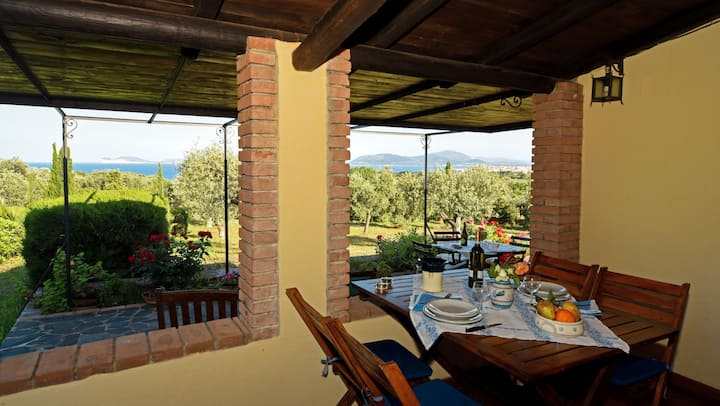 Romantic cottage Narcisi, sea view - Canunget