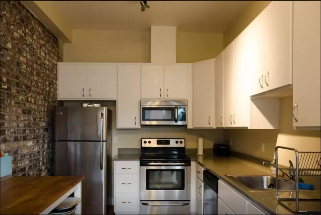 full kitchen stainless steel!