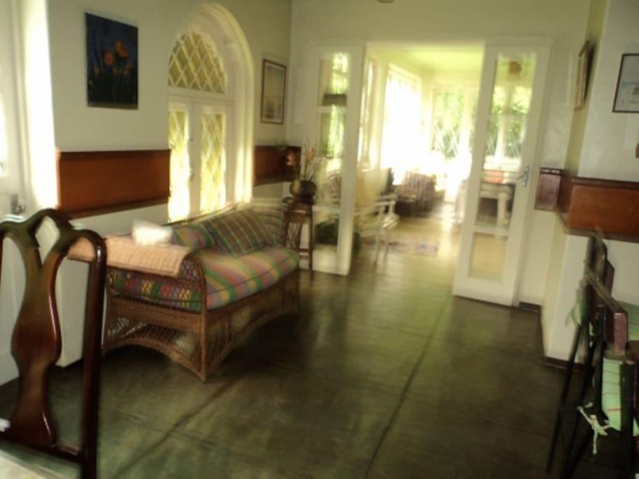 Dinning room and veranda
