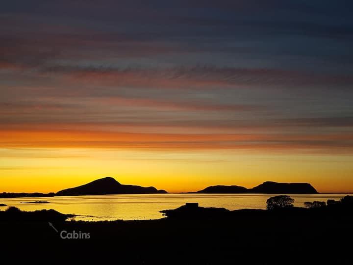 Enjoy spectacular sunsets towards Northislands!