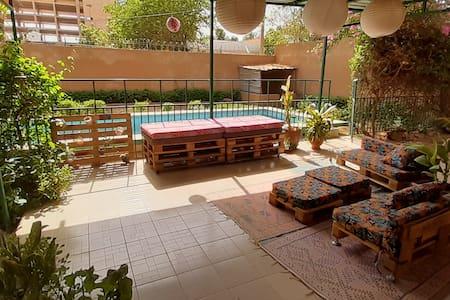 Chambre privée + piscine - oasis verte au centre