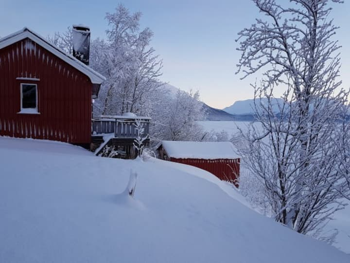 Cottage with a beautiful view.