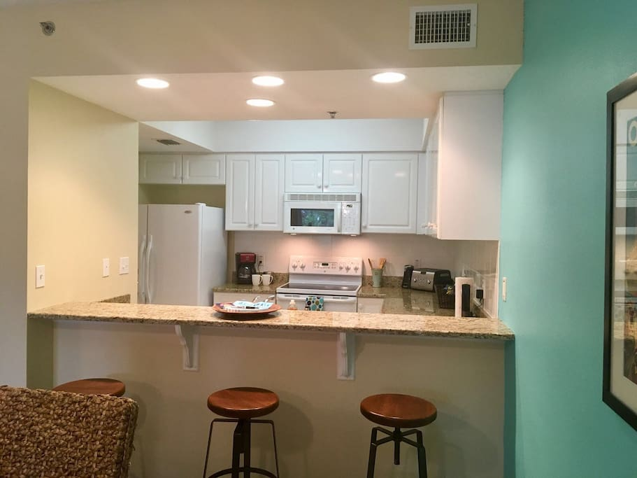 Open kitchen great for gatherings