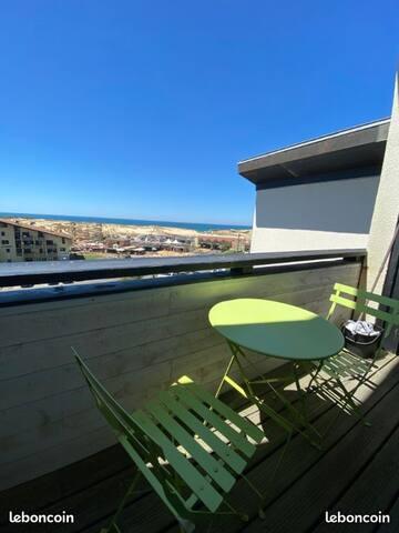 Charmant studio avec magnifique vue sur l'océan!