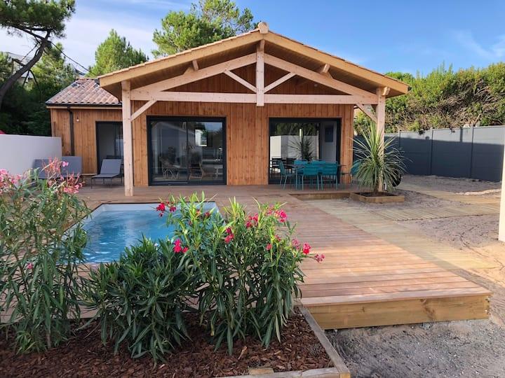 Villa de rêve au pied plage sud piscine chauffée