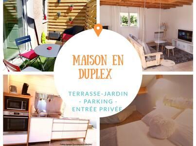 Maison duplex spa terrasses Calme et sérénité.