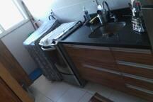 Cozinha e Máquina de lavar