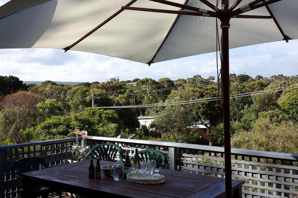 Lovely views over Aireys Inlet from the front deck
