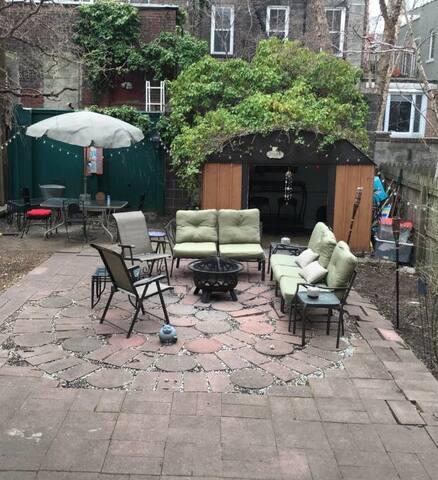 Garden level simple apartment. - Hoboken - Apartamento