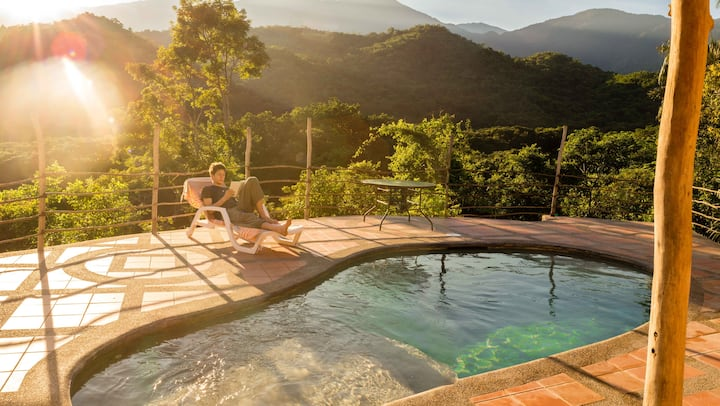 Twin room/AC/3 Pools/River/Finca Carpe Diem