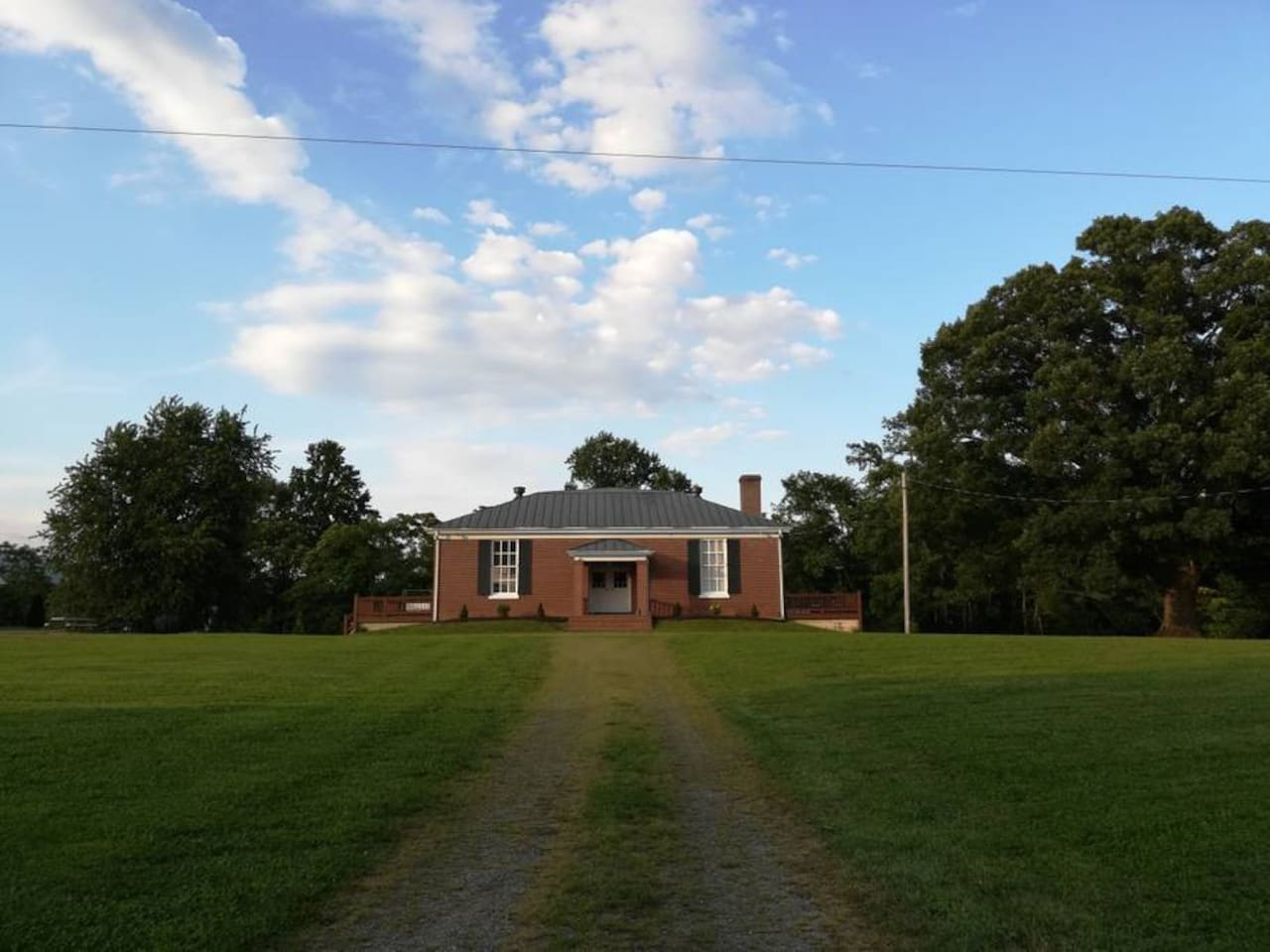 The historic Dyke Schoolhouse. This listing includes the entire residence which consists of two modern independent living units.