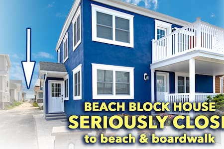 BEACH BLOCK 1st FL new duplex sleeps 6 w/PARKING!