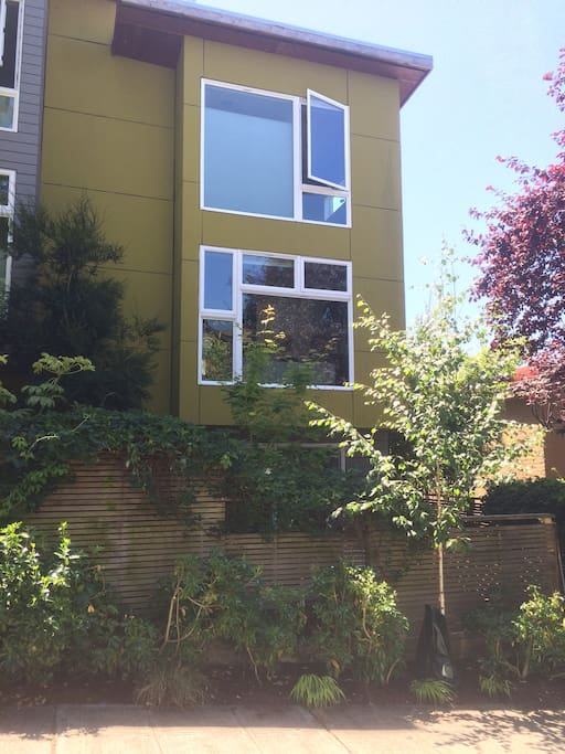 Our three-story townhome in Squire Park neighborhood is close to everything cool in Seattle.