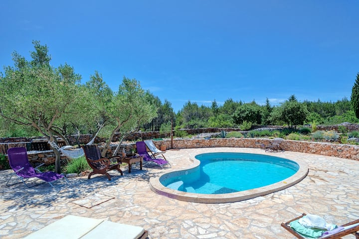 House with 2 bedrooms in Stari Grad, with private pool, furnished terrace and WiFi