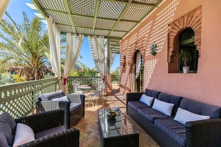 Hus med 3 soverom i Marrakech, Annakhil med tilgang til svømmebasseng, inngjerdet hage og Wi-Fi