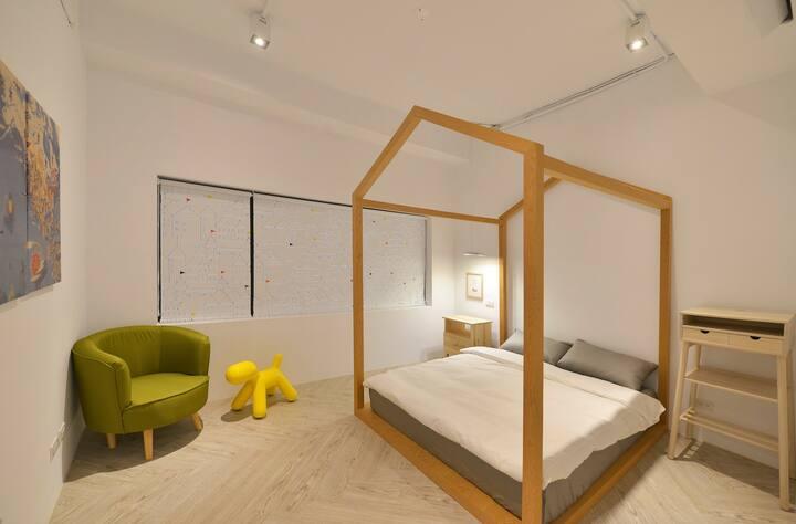 In Style House童趣雙人房Double/sharedbathroom捷運信義國小站1分鐘