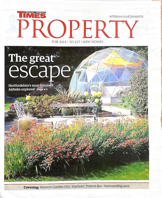 """As described in the local paper; """"Hertfordshire's most fabulous Airbnbs explored""""!"""