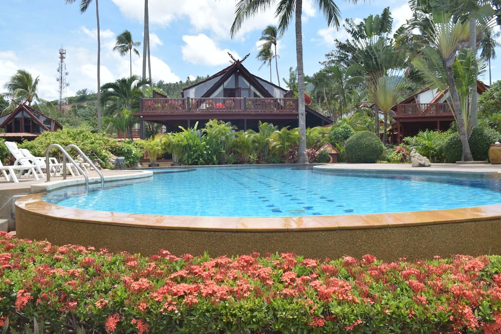 Banyan Villa 3 - view across the pool