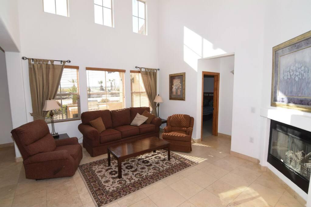 El Dorado Ranch san felipe baja resort villa 251 living room chimny