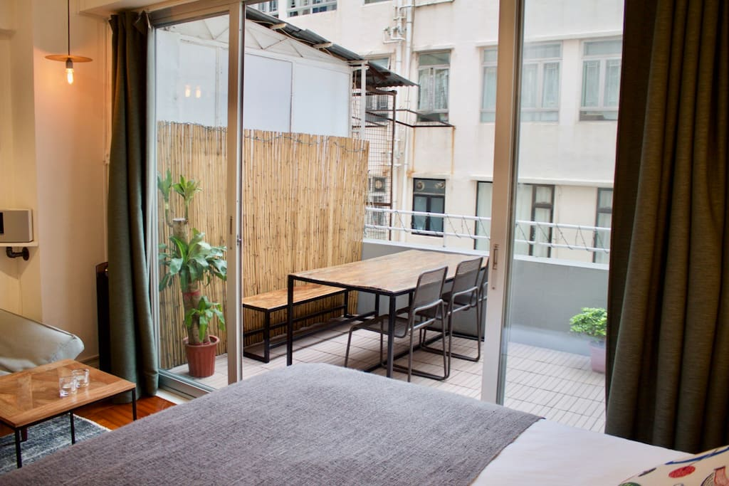 Terrace from bed