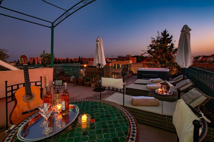 Villa Soraya, Marrakech centre, services compris