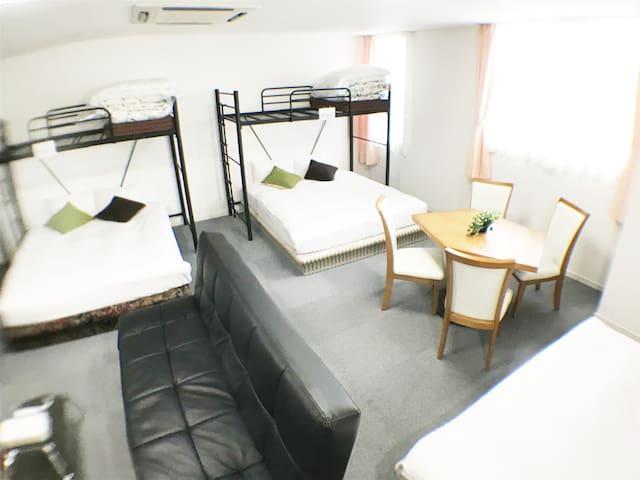 A-GATE HOTEL☆No.513☆Cozy room for family! 6名宿泊可能