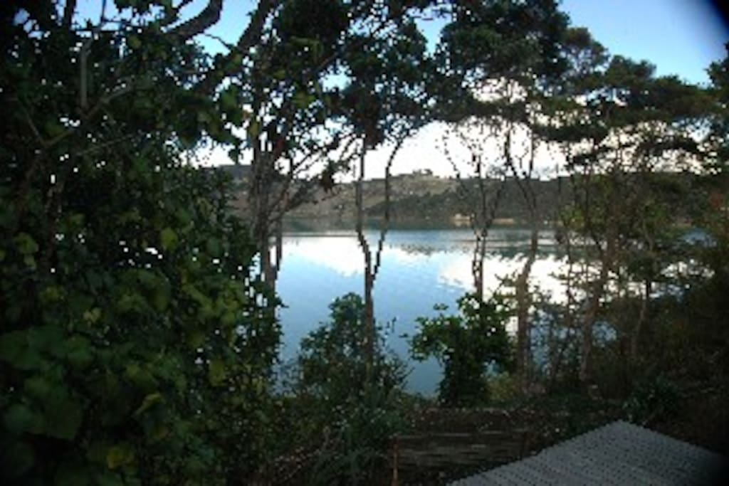 """Anzac Bay from the deck of """"The Hammock"""""""