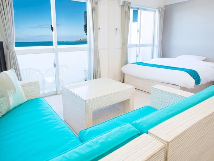 Churaumi Aquarium soon ♪  (4 pax)Seaside hotel with kitchen! 1 LDK