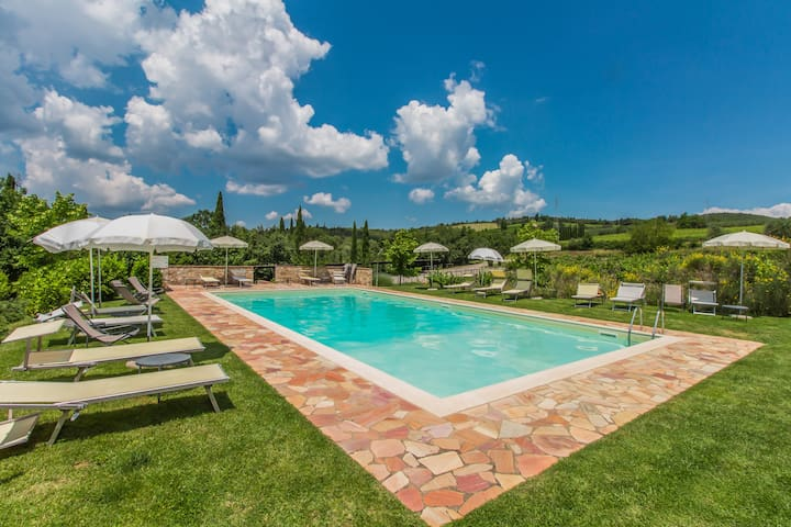 San Sano Country House with Pool in Tuscany - Gaiole in Chianti - House