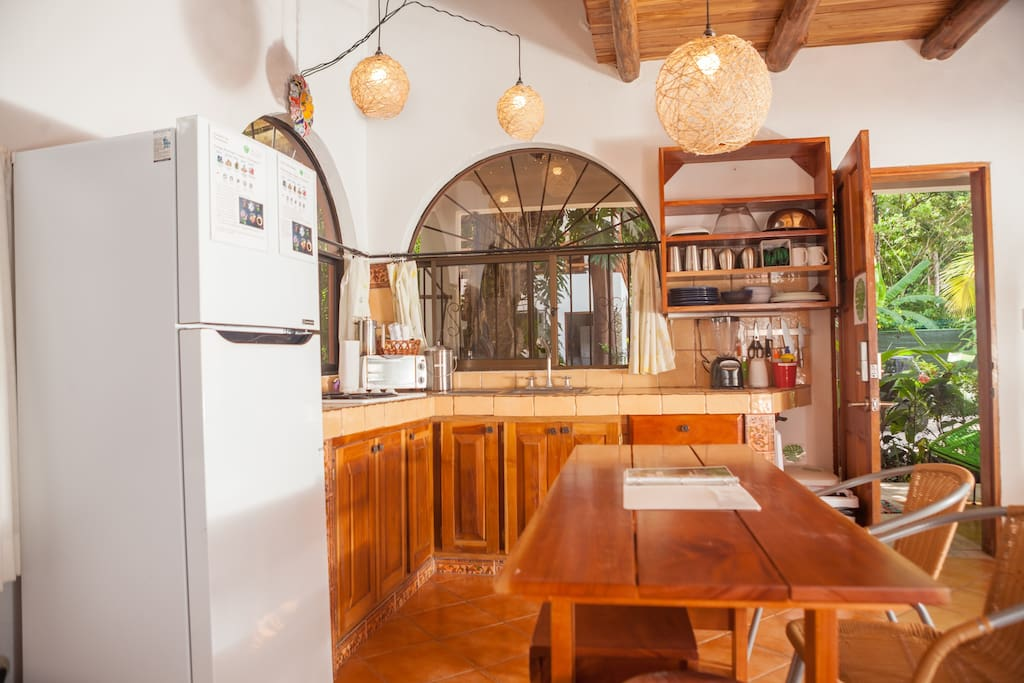 Villa Mar's inviting kitchen will find you whipping up a mango smoothie in no time