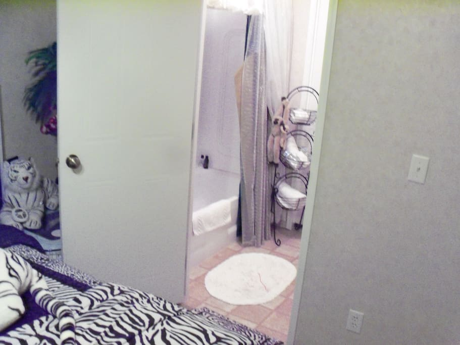 """The """"Tiger Room""""    Private Attached    Bathroom"""