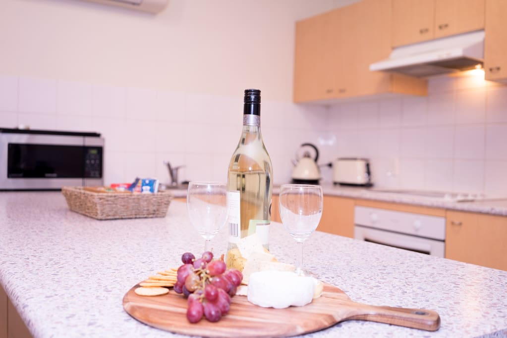 Wine glasses provided, cheese board provided (BYO Wine & Cheese)