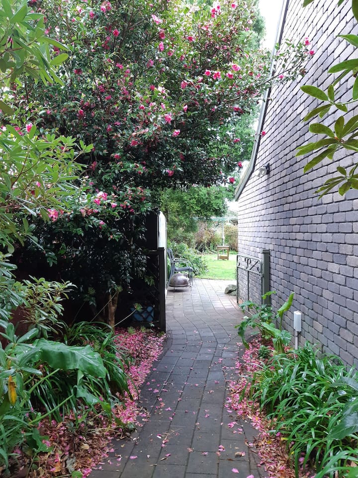 Private pathway to the Apartment
