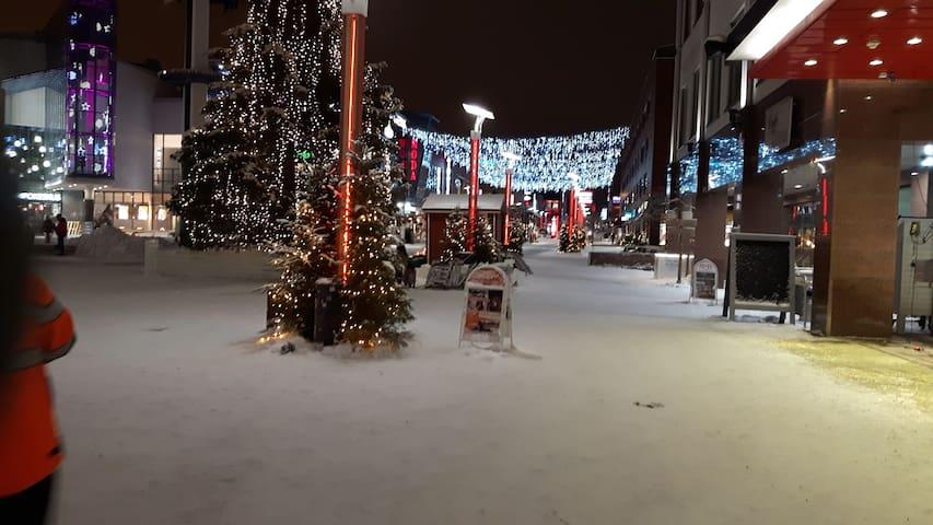 Joulukatu Christmas street in the center