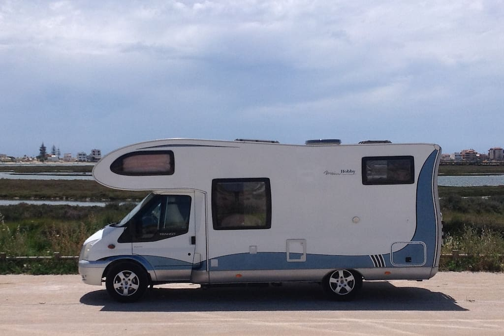 Summer parking position by the Ria Formosa (June - September)