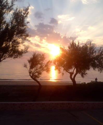 Italy, Puglia-Sunny beach front 2br - Lendinuso  - Daire