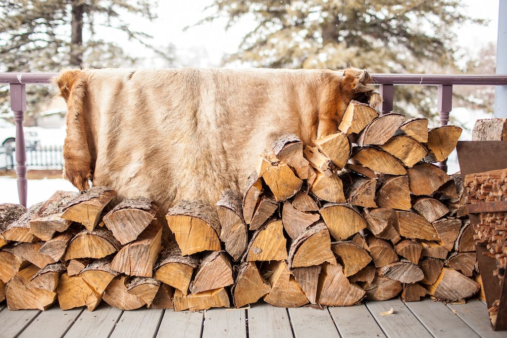Firewood on Front Porch