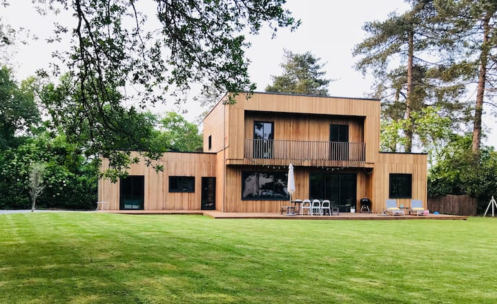 Wooden house designed by an architect