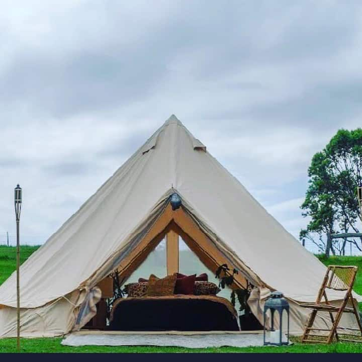"""Ultimate Luxe"" glamping by Bonnie Belle Tents"