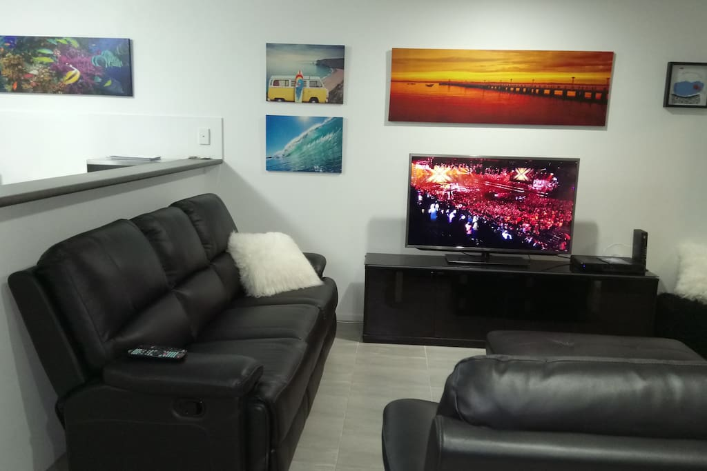 Lounge with Foxtel TV