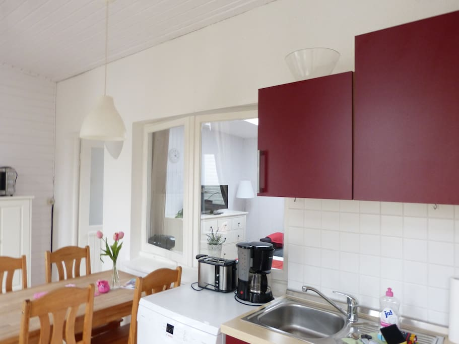 Einbauküche mit Geschirrspülmaschine