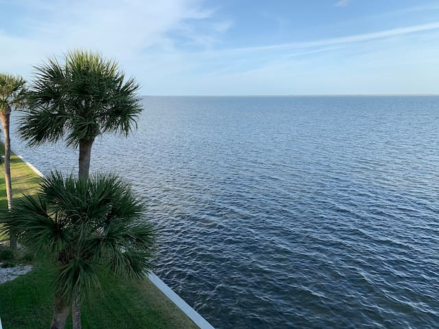 Waterfront Condo with Views of Dolphins & SpaceX!