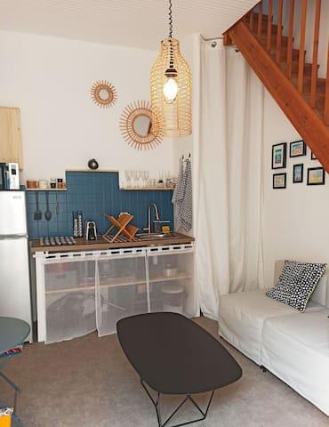 Petite maison de vacances au coeur de la station