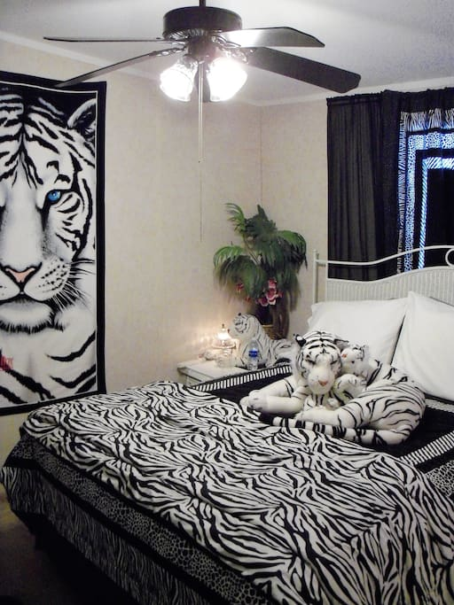 """The Room Inside Corner with Queen Size Bed - we promise to take the """"Tiger Away"""" !"""