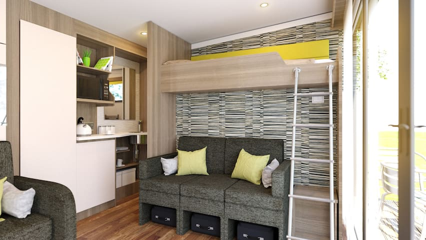 Family Studio - single with bunk above