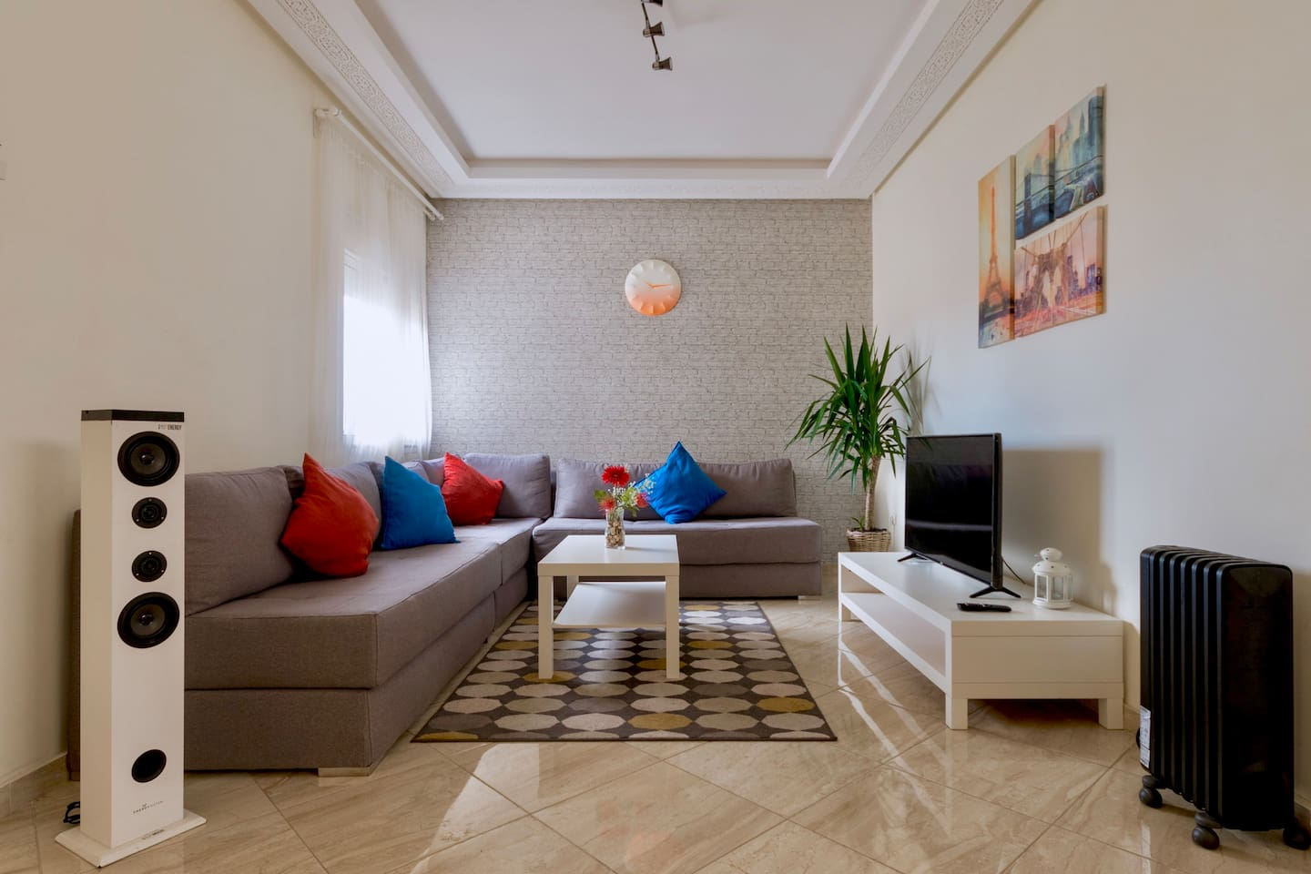 Your Living Room Where you Can Relax and Enjoy our Fast Wifi & TV