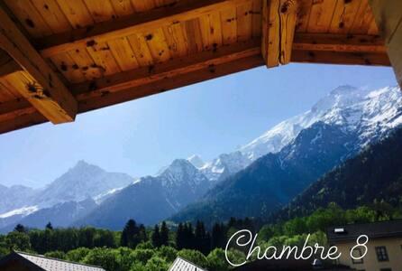 *Room n°8* view of Mt Blanc