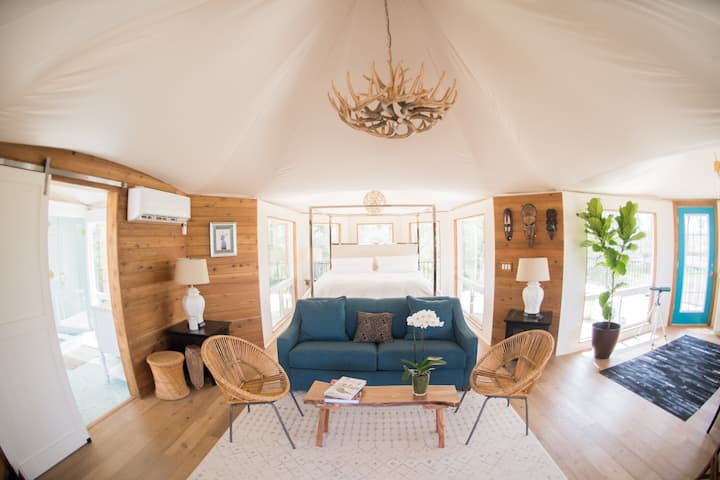 Sanctuary Tent @ Wahwahtaysee Resort *100+ acres*