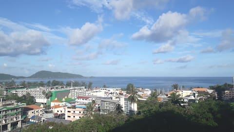 Fantastiske Patong Bay-visninger/10 minutters spasertur til stranden