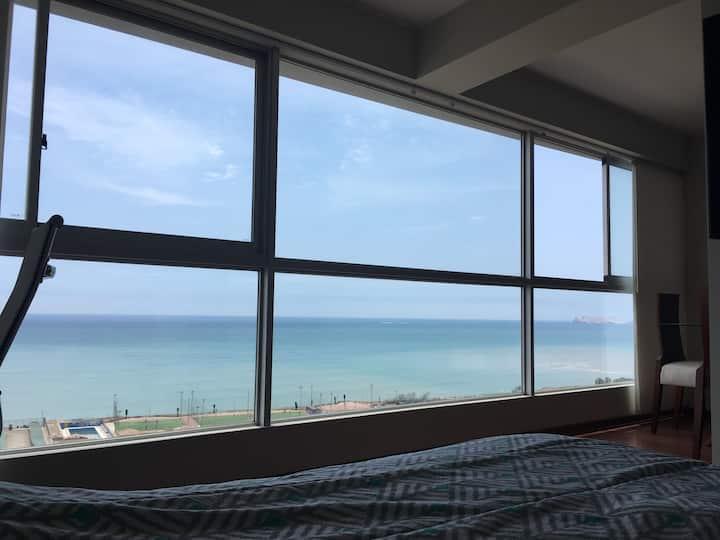 Wide Ocean View Apartment Magdalena del Mar